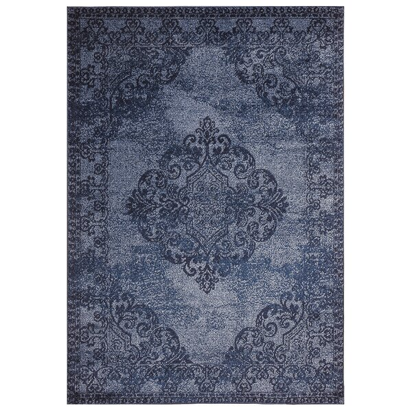 Kulick Chester Medallion Design Blue Rug
