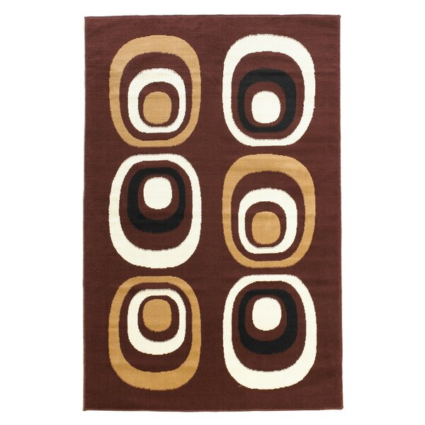 Charlotte Brown/Ivory Area Rug by Langley Street