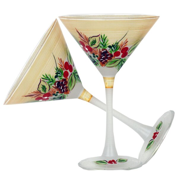 Ducharme Pine Martini 7 oz. Glass Every Day Glass (Set of 2) by The Holiday Aisle