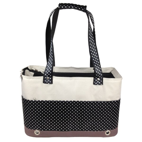 Kadoka Fashion Tote Spotted Pet Carrier by Tucker