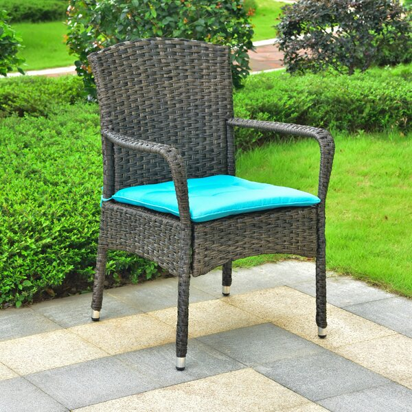 Harbin Resin Wicker Patio Dining Chair With Cushion by Winston Porter