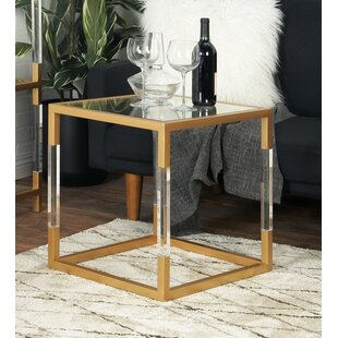 Best Choices Metal, Glass and Acrylic End Table by Cole & Grey