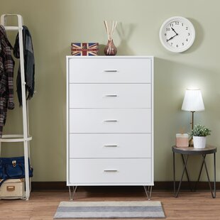 Enosburgh Rectangular 5 Drawer Chest by Wrought Studio