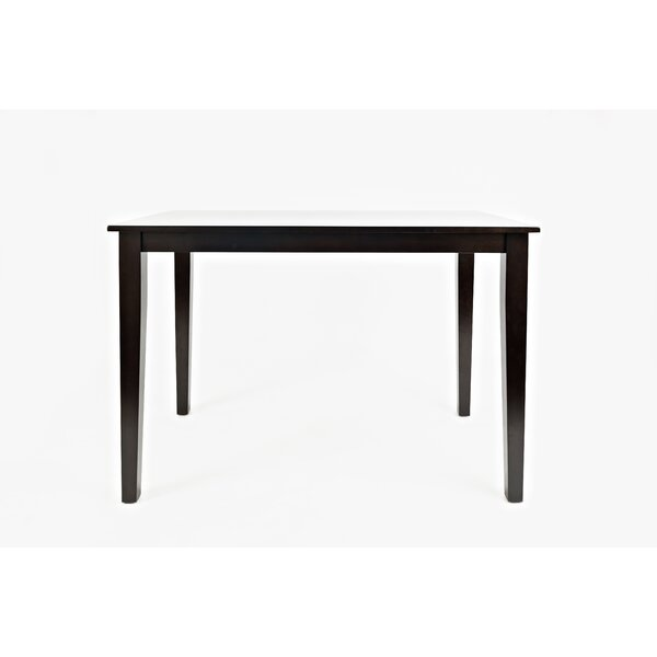 Huldah Counter Height Solid Wood Dining Table by Charlton Home