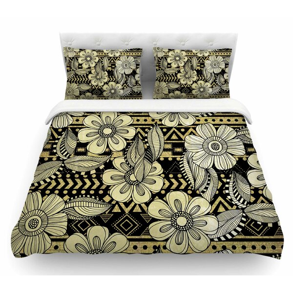Ink by Louise Machado Floral Featherweight Duvet Cover by East Urban Home
