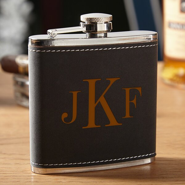 Hawthorne Personalized Drinking Flask by Home Wet Bar