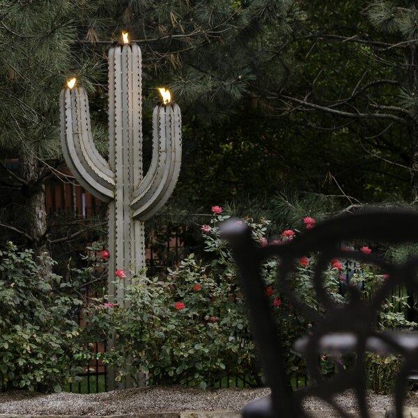 Saguaro Cactus Garden Torch by Desert Steel