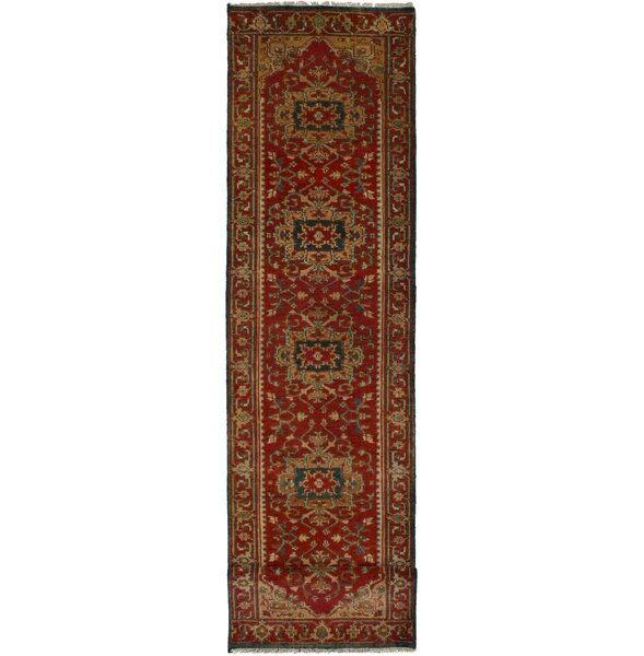 One-of-a-Kind Roselli Hand-Knotted Wool Red Area Rug by Bloomsbury Market