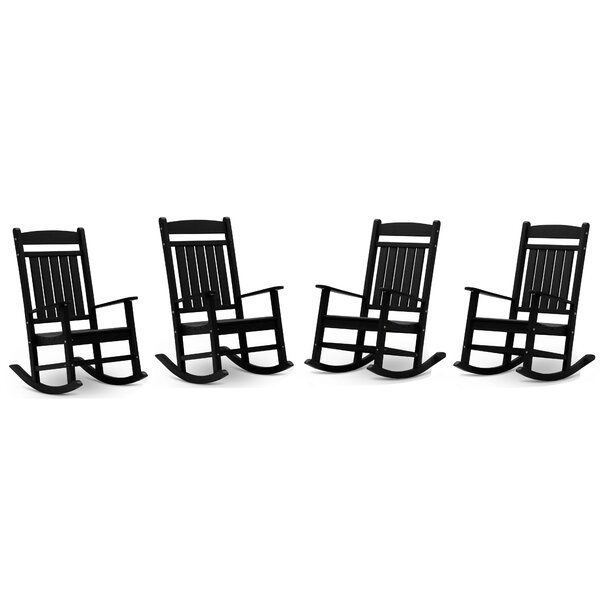 Gospel Classic Rocking Chair (Set of 4) by Rosecliff Heights