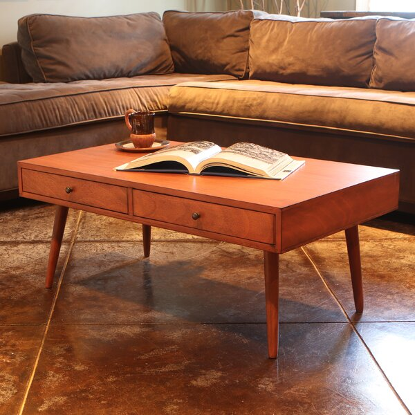 Grant Modern Coffee Table with Storage by Langley
