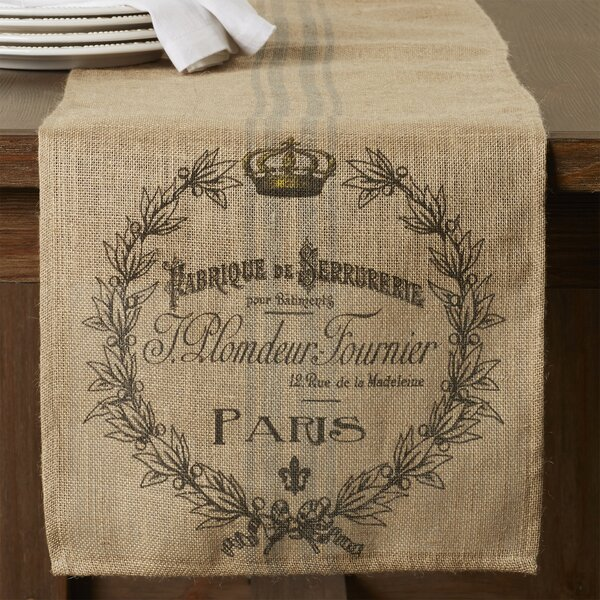 Saxatil Burlap Table Runner by One Allium Way