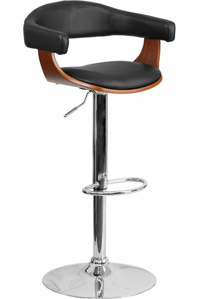 Crotty Mid Back Adjustable Height Swivel Bar Stool by George Oliver