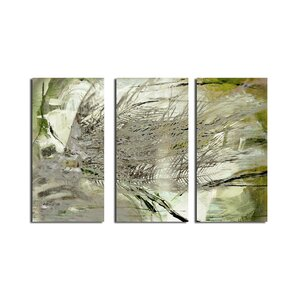 'Abstract Palms' 3 Piece Graphic Art on Wrapped Canvas Set by Ready2hangart