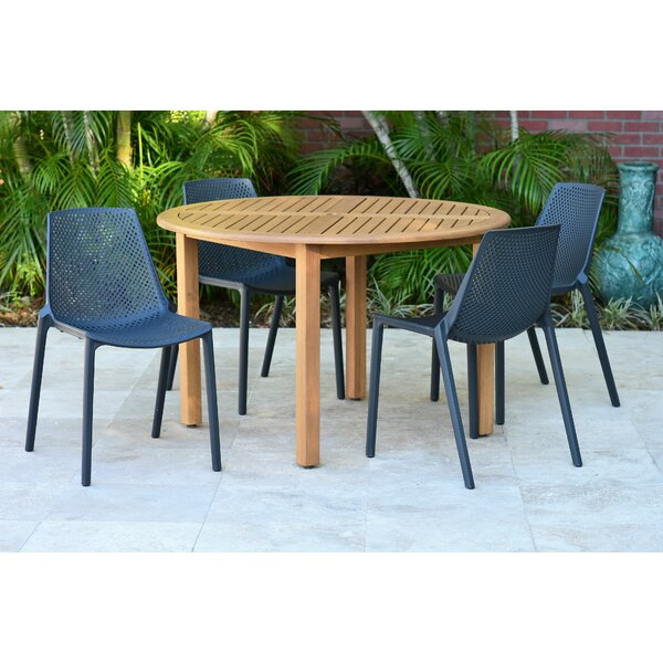 Onamia 5 Piece Teak Dining Set By Wrought Studio