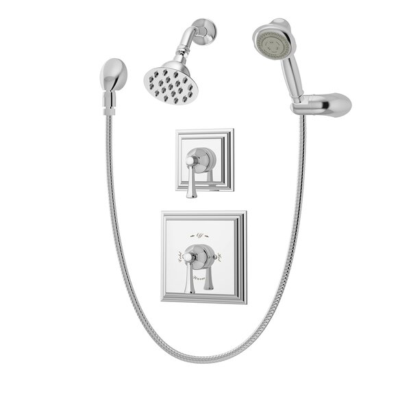 Canterbury Pressure Balance Shower and Hand Shower with Lever Handle by Symmons