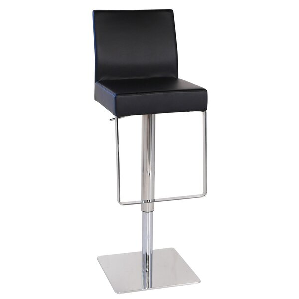 Marcelo Leather Hydraulic Adjustable Height Swivel Bar Stool by Joseph Allen