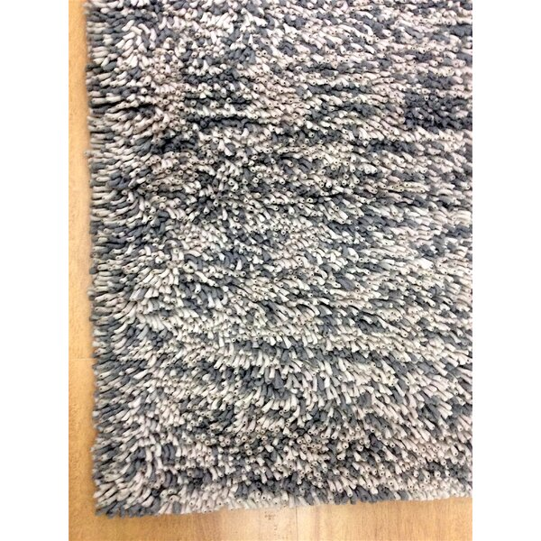 Shag Eyeball Woolen Hand Knotted Gray/White Mix Area Rug by Eastern Weavers