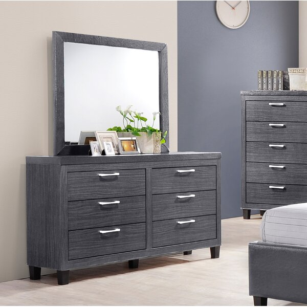 Spiva 6 Drawer Double Dresser by Wrought Studio