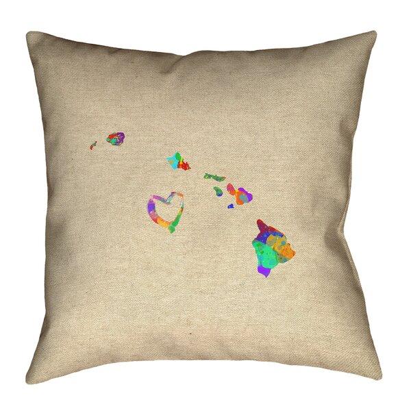 Austrinus Hawaii Love Watercolor Pillow by Ivy Bronx