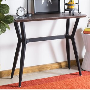Ruano Rectangular Wood Top Console Table by ..