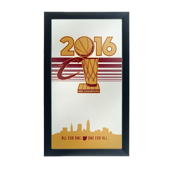 NBA Cleveland Cavaliers 2016 Champions Graphic Art Accent Mirror by Trademark Global