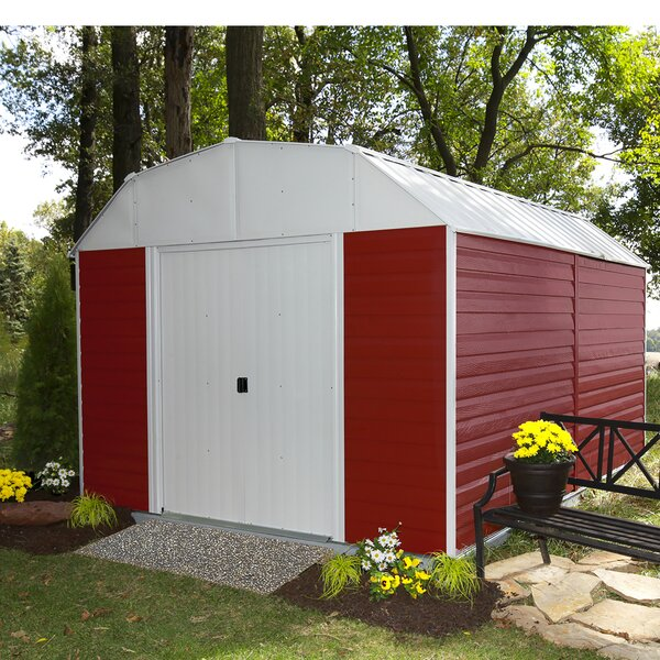 Barn 10 ft. W x 14 ft. D Metal Storage Shed by Arrow