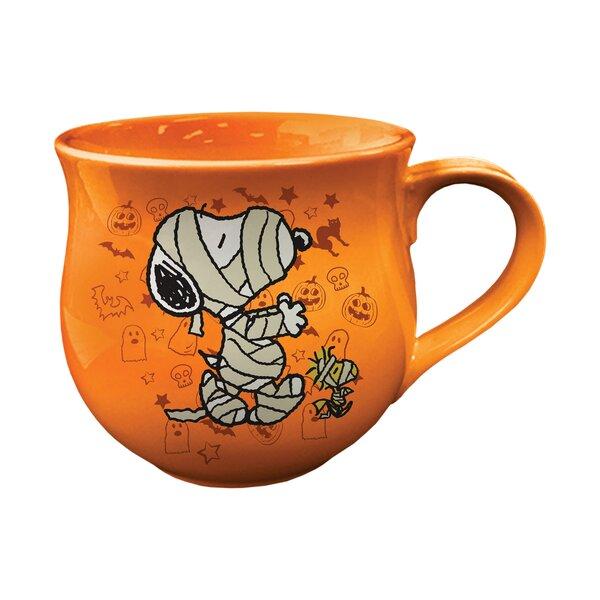 Peanuts Halloween Cauldron Shaped Coffee Mug (Set of 2) by Vandor LLC