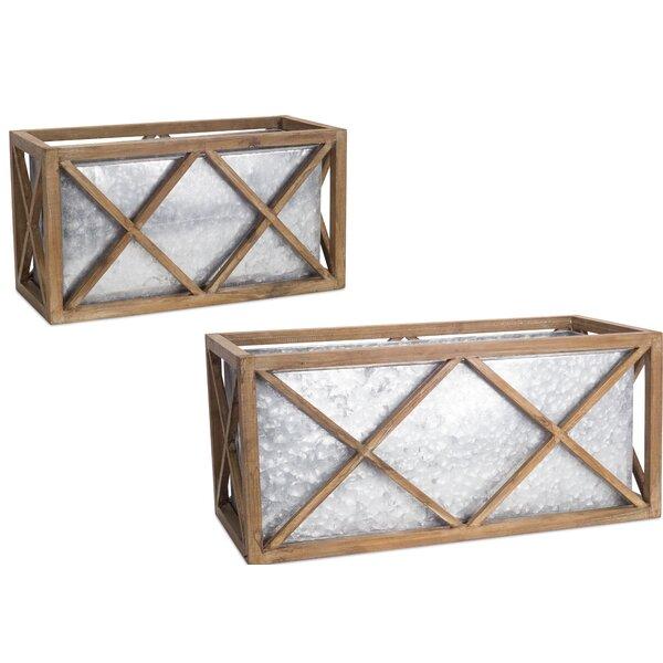 Trudel 2 Piece Planter Box Set by Ophelia & Co.