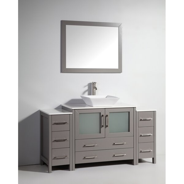 Karson 36 Single Bathroom Vanity Set with Mirror by Wade LoganKarson 36 Single Bathroom Vanity Set with Mirror by Wade Logan