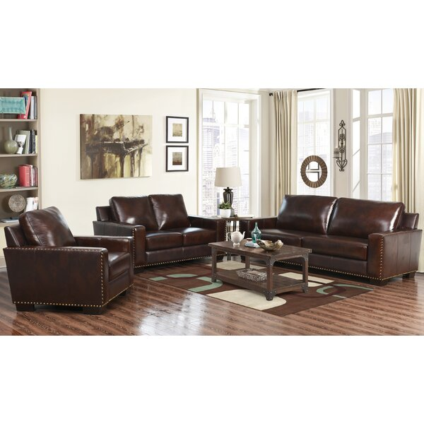 Portsmouth 3 Piece Leather Living Room Set by Red Barrel Studio
