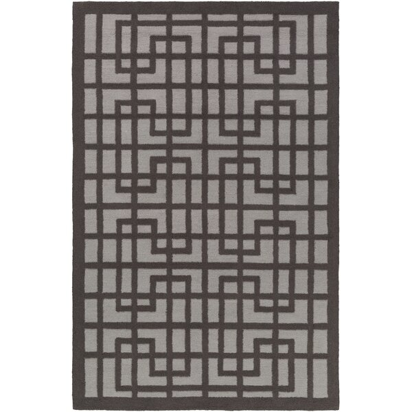 Rufina Hand-Crafted Slate/Gray Area Rug by Mercer41