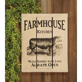 Farmhouse Kitchen Slat Sign Wood Wall Décor