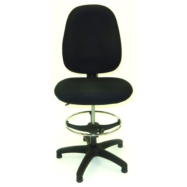 50.5 Upholstered Seat Drafting Chair by Symple Stuff