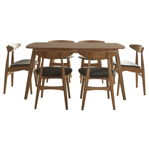 Caro 7 Piece Solid Wood Dining Set by Modern Rustic Interiors