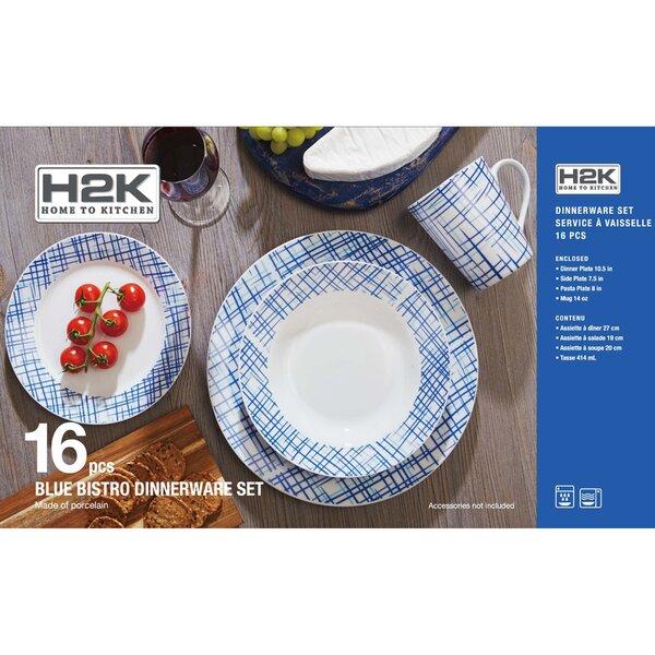 Rim Bistro 16 Piece Dinnerware Set, Service for 4 by Safdie & Co. Inc.