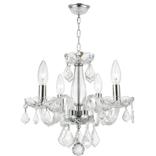 Price comparison Yvette 4-Light Candle Style Chandelier By House of Hampton
