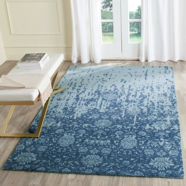 Ellicottville Hand-Tufted Blue Wool Area Rug by Ophelia & Co.