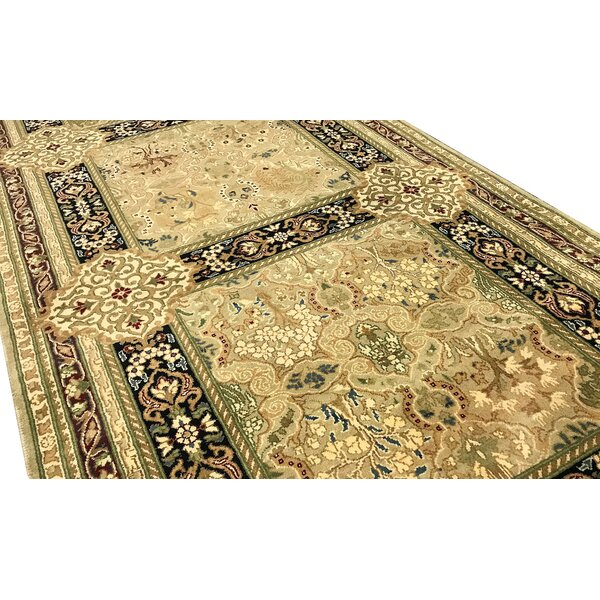 One-of-a-Kind Worsted Handwoven Runner 3' x 12'5 Wool Beige Area Rug