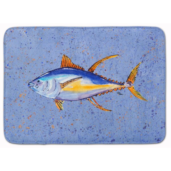 Tuna Fish Rectangle Microfiber Non-Slip Bath Rug
