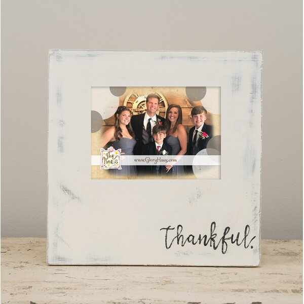 Davande Thankful Picture Frame by Winston Porter