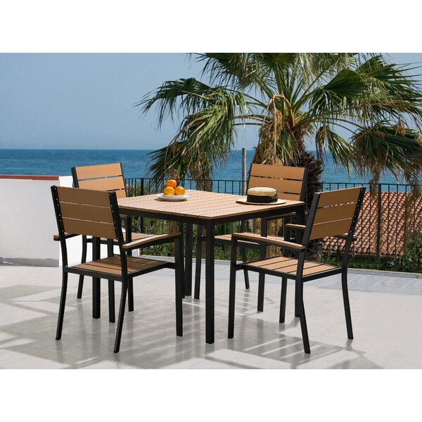 Verasha 5 Piece Dining Set by Highland Dunes
