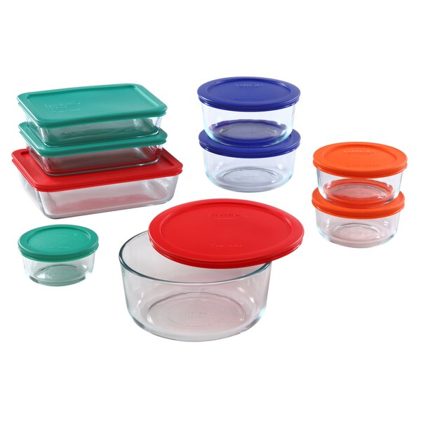 Storage Plus 9 Container Food Storage Set by Pyrex