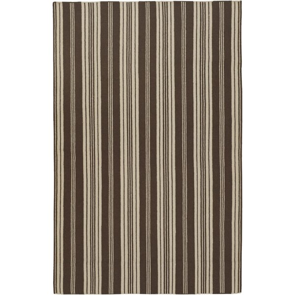 Farmhouse Stripes Hand-Woven Brown/Tan Area Rug by Country Living™ by Surya