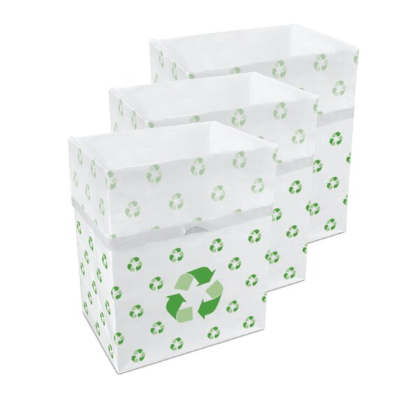 13 Gallon Recycling bin (Set of 3) by Clean Cubes LLC