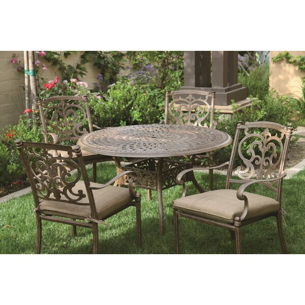 Fairmont 5 Piece Bar Dining Set with Cushions by Astoria Grand