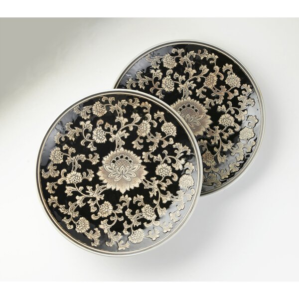 Ragusa Floral Round Platter (Set of 2) by Astoria Grand