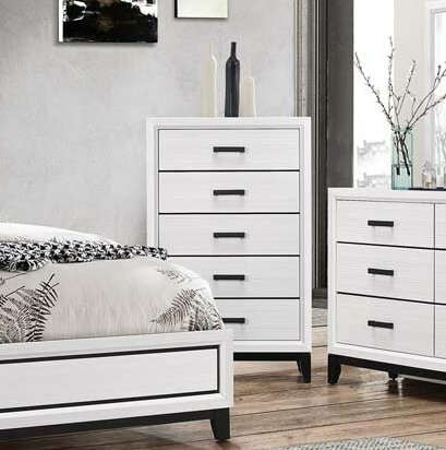 Wallis 5 Drawer Chest by Ebern Designs