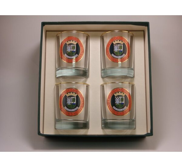Scottish Golf Double 14 Oz. Old Fashioned Glass (Set of 4) by Richard E. Bishop