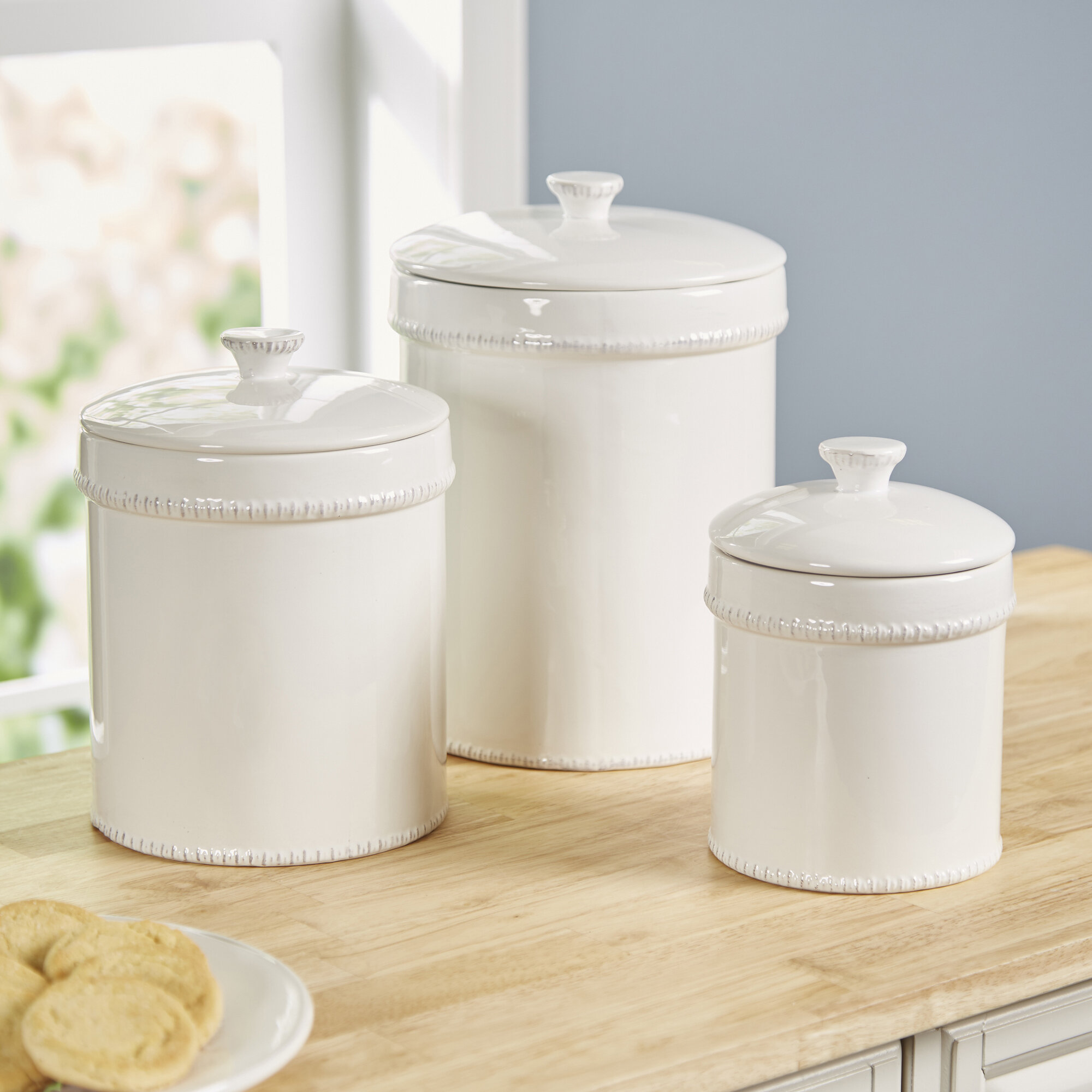 Bianca 3 Piece Kitchen Canister Set Reviews Birch Lane