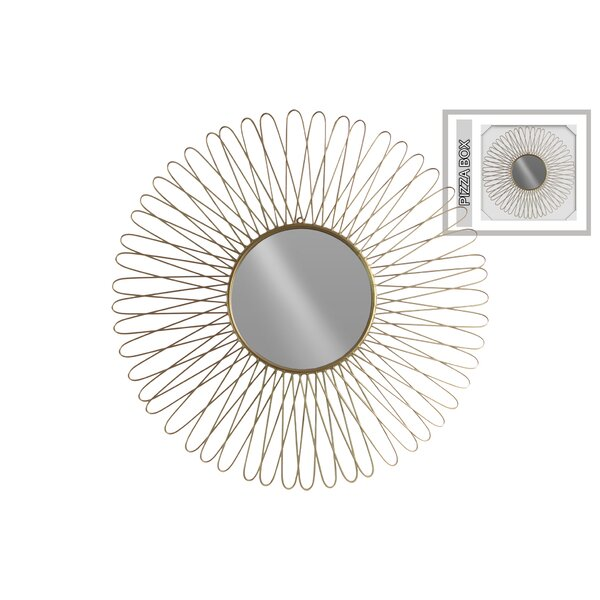 Petal Metal Round Wall Mirror by Brayden Studio